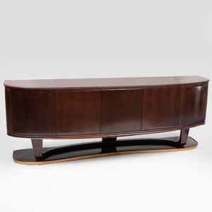 Vittorio Dassi Brass-Mounted Rosewood Sideboard