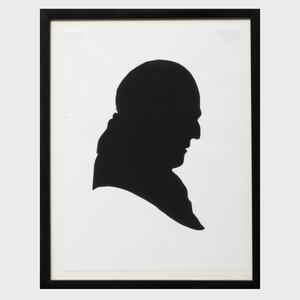 Elliott Puckette (b. 1967): Profile Silhouette of John Richardson