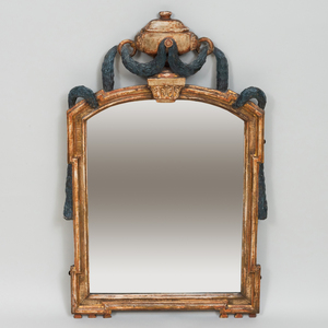 Small Continental Painted and Parcel-Gilt Mirror