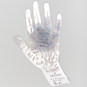 Christofle Silver Plate Palm Reading 'Hand of Destiny'
