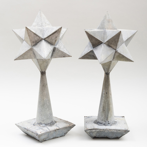 French Tôle Star Finials