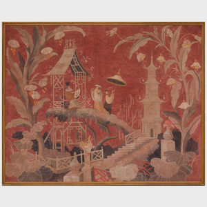 Decorative Chinoiserie Painted Panel