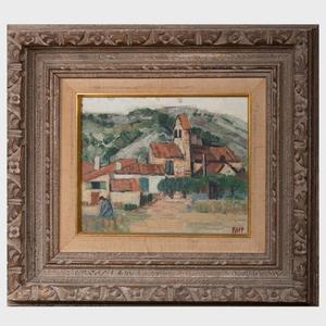 Ginette Rapp (1928-1998): Paysage en Pyrenées Orientales
