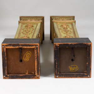 Pair of George III Style Painted Torchères