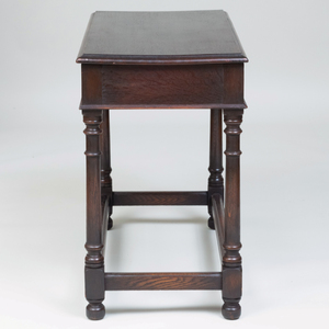 English Stained Oak Metamorphic Library Table/Ladder