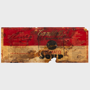 After Andy Warhol (1928-1987): Soup Can Label; and Campbell's Soup Can on Shopping Bag
