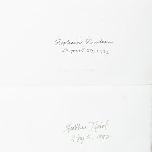 Stephanie Rowden, Heather Nicol, Mary Hambleton (1952-2009): Untitled