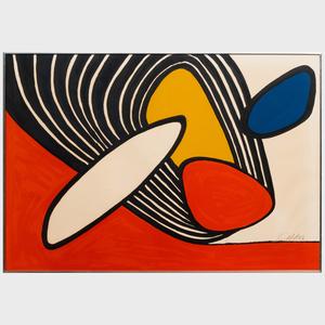 Alexander Calder (1898-1976): Composition with Disks and Black Spiral