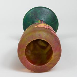Daum Nancy Etched Cameo Glass Vase