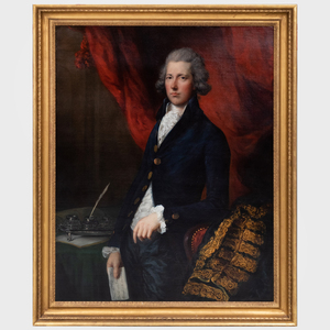 Attributed to Gainsborough Dupont (c. 1754-1797): The Right Honorable William Pitt, Chancellor of the Exchequer