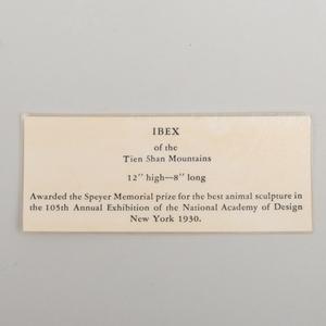 James Lippitt Clark (1883-1957): Ibex of the Tien Shan Mountains