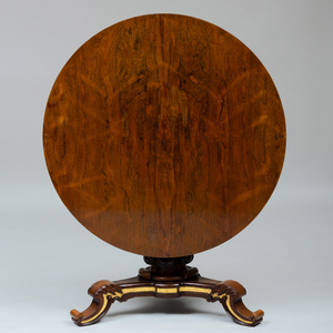 Late Regency Neo-Gothic Gilt-Metal-Mounted Rosewood Center Table
