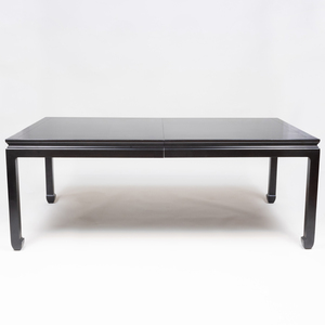 Bittners Chinese Style Black Lacquer Extension Dining Table