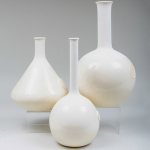 Group of Three Continental Porcelain Carafes