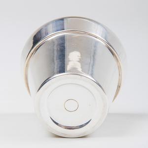 Miniature Bulgari Silver Model of Flower Pot