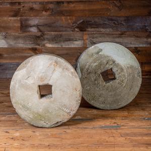 Two Circular Millstones