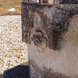 Renaissance Style Stone and Iron Well Head