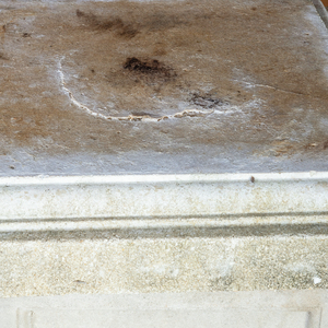 Pair of Cast Terracotta Campana Urns on Stone Pedestals