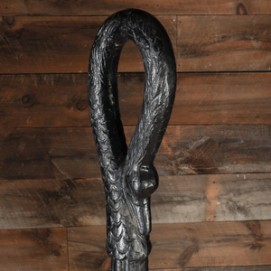 American Empire Black Painted Cast Iron Goose Head Hitching Post