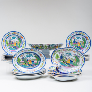 Mason's Ironstone Transfer Printed and Enriched Part Dessert Service