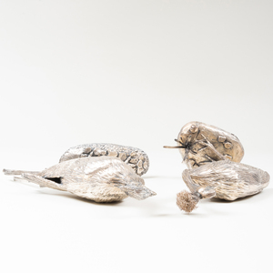 Two English Tim Nicklin Silver Birds