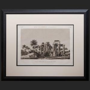 French School: Vu du Temple Prise du Coté Sud-Ouest, from Description de L'Egypte