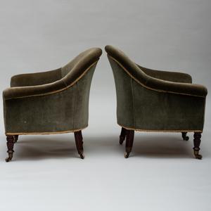 Pair of Victorian Mahogany Tub Chairs