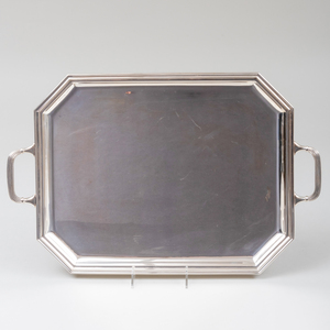 Italian Tiffany & Co. Two Handle Silver Tray