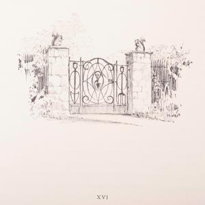 Rare American Wrought Iron Garden Gate Designed by William Adams Delano (1874-1960)