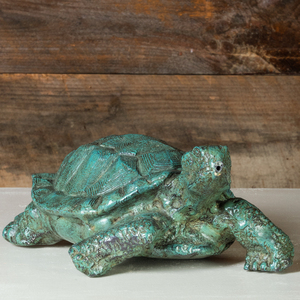 Painted Metal Turtle Fountain