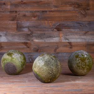 Three Medium Composition Garden Spheres