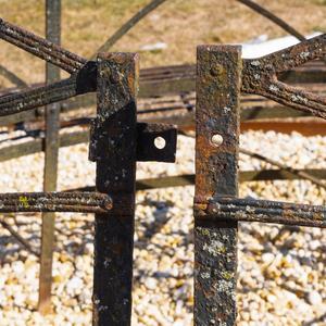 English Circular Black Painted Iron Tree Bench