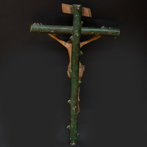 Painted Cristo Crucificado, Possibly New Mexican,