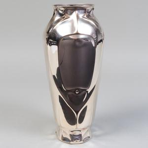 Large Silver Plate Vase