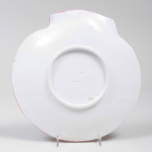 Set of  Fourteen Wedgwood Porcelain Pink Shell Plates