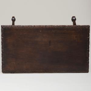 Italian Late Renaissance Style Carved Walnut Trestle Table