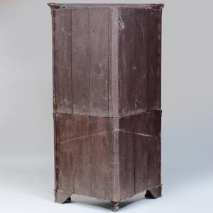 Edwardian Mahogany and Satinwood Corner Cabinet